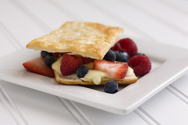 White Chocolate & Berries Dessert Pastries