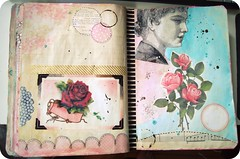art journal pages...in progress (holiday_jenny) Tags: art collage paint journal journaling