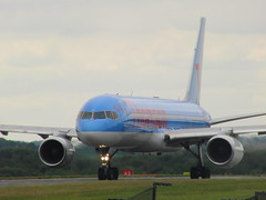 Thomson Airways B757 Taxiing (Alex Staniforth: Wildlife/Nature Photography) Tags: 3 alex cheshire wildlife casio peaks staniforth stani exfh20