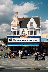 Rossi Ice Cream, Southend-on-Sea (ho_hokus) Tags: uk england building shop town store seaside cone unitedkingdom 35mmfilm icecream gb seafront essex southend rossi 2011 luckysuper200 filmphotographypodcast