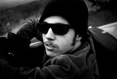 Seventeen (snapscot) Tags: friends blackandwhite bw film sunglasses 35mm cool friend doug convertible 1960s argus seventeen schoolchums douglasmcelroy friendsfromthe1960s