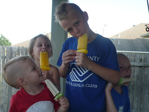 Little Popsicle Eaters