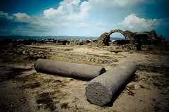 remains of medieval fort. (daz tazer) Tags: nikon ruins fort cyprus pillars remains paphos pafos d90