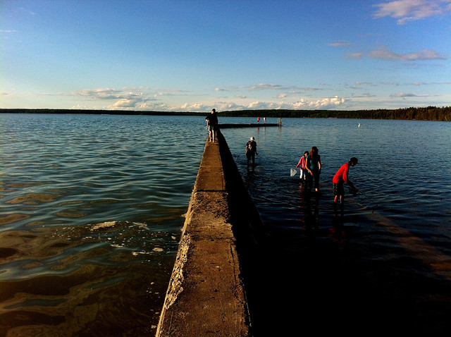 submerged breakwater at Waskesiu 1