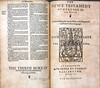 The Bible and Holy Scriptures conteined in the Olde and Newe Testament. Translated according to the Ebrue & Greke, & conferred with the beste translations in diuers language ... Edinburgh: Be Arbuthnot, [and Thomas Bassandyne], 1579.