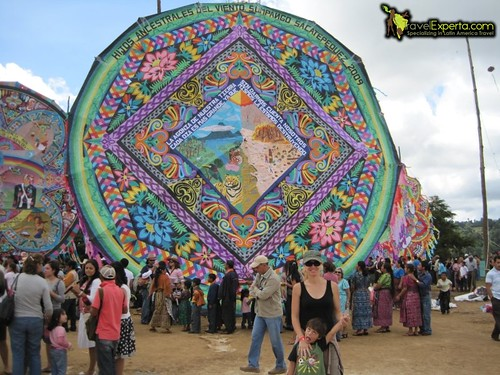kite festival during the day of the dead in small kite