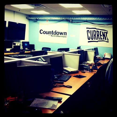 Countdown's Studio 33 bullpen after hours