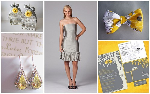 Wedding Style: Yellow & Gray by Nina Renee Designs