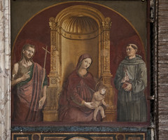 Madonna between Ss John the Baptist and Francis
