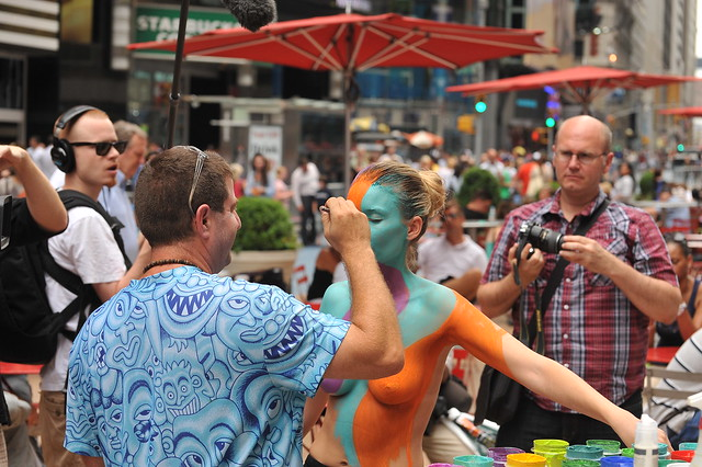 BODY PAINTING IN TIMES SQUARE  2011/Body Art by Andy Golub-Times Square, Manhattan NYC-07/28/11