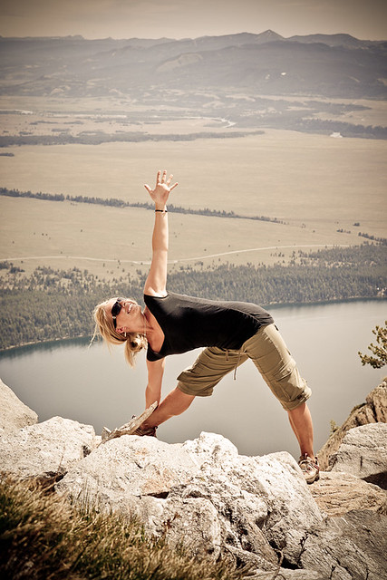 Yoga in the Tetons