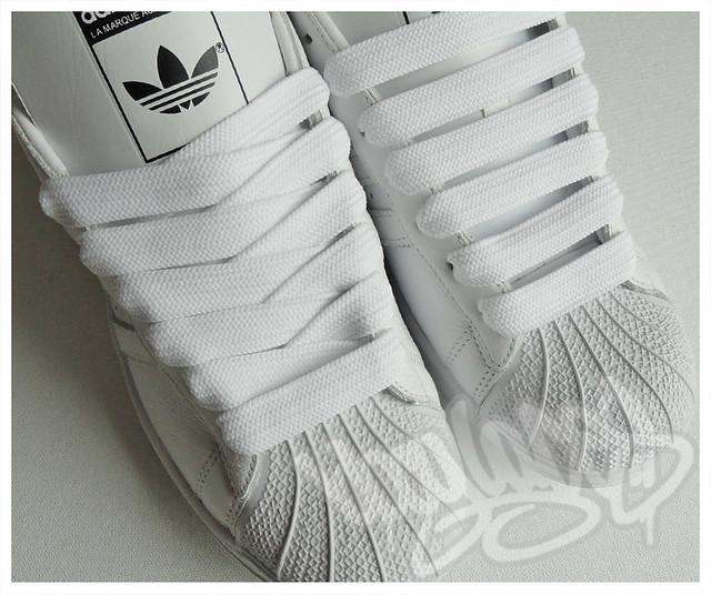 high quality white 15mm medium shoe lace bboy laces