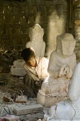 polishing marble, Mandalay Myanmar (Mau&Sa) Tags: boy young worker myanmar marble aasia mandalay marmo birmania earthasia novembre2013challengewinnercontest