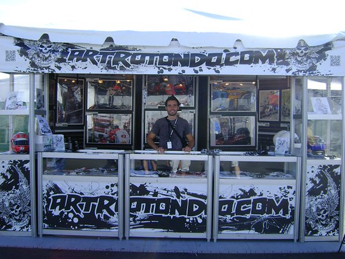 ArtRotondo.com stand at the Edmonton Indy