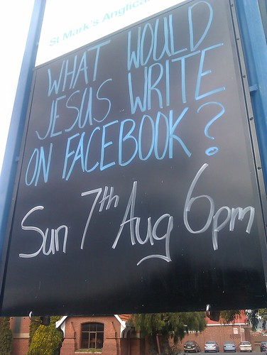 What would Jesus write on Facebook by james veltmeyer
