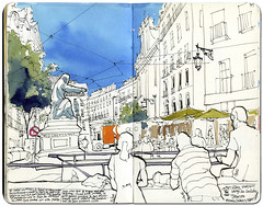 Lisbon #3 (freekhand) Tags: lisbon urbansketchers