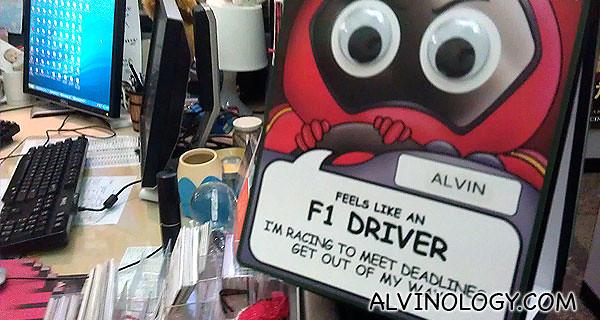 My work desk...