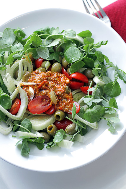 Fennel, Tomatoes and Red Peppers Pesto