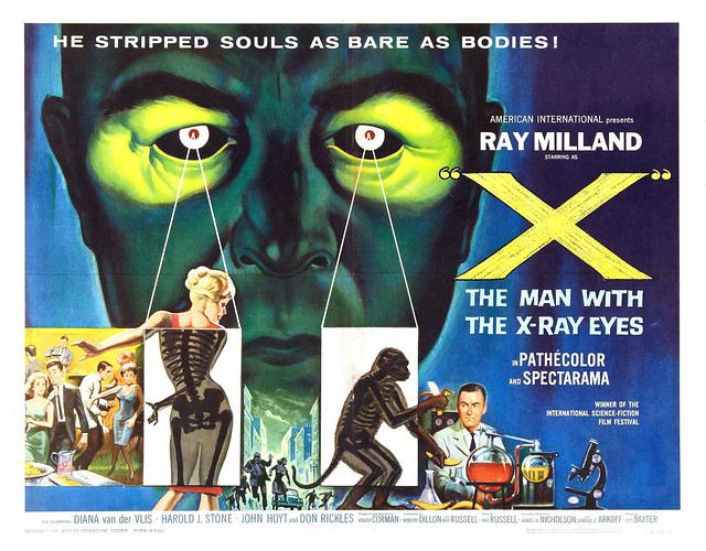 Reynold Brown - X - The Man with the X-Ray Eyes (American International, 1963) half sheet