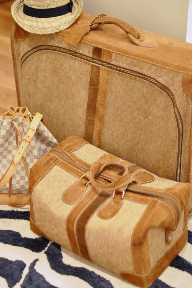 vintage luggage and louis vuitton