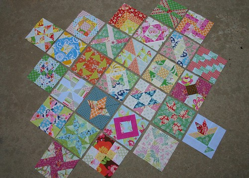 Farmer's Wife Sampler Quilt Blocks - 27 of them