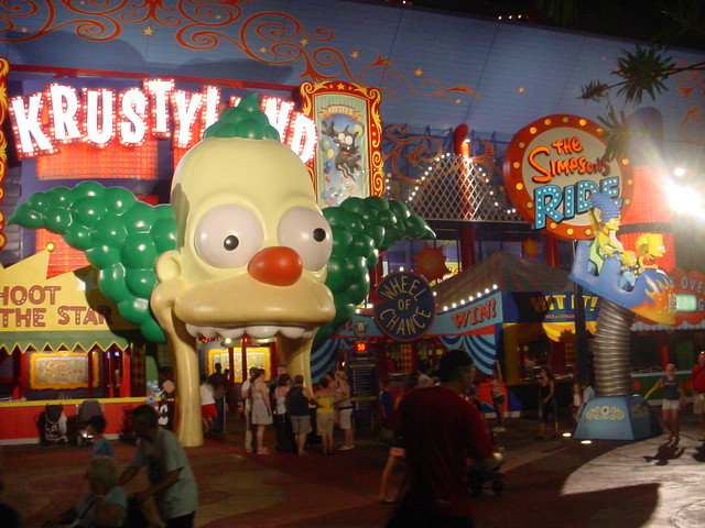 Krustyland Entrance to the Simpsons Ride