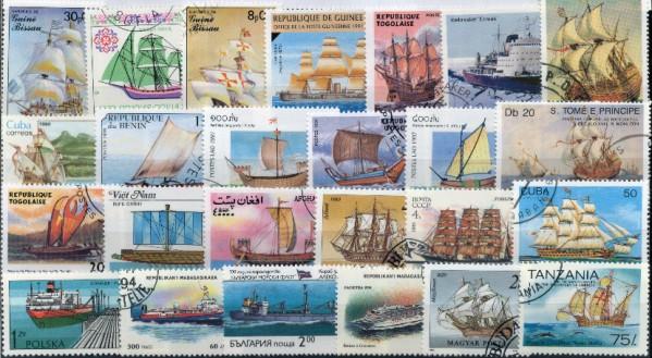 Známky - 50 rôznych lode, plachetnice