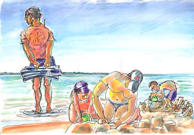 Bob surveille la plage by alain bertin