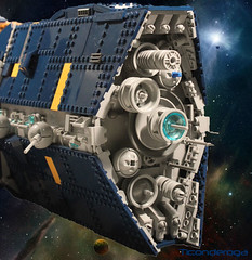 Ticonderoga2 (I Scream Clone) Tags: ship lego space scifi ticonderoga dreadnought vexillum
