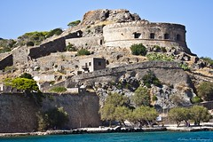 Spinalonga (MFotography*) Tags: trees sea water rock island greek fort greece fortress turret colony spinalonga lepor tyers wallscrete