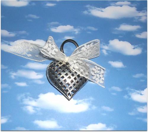 porta chaves coraçao prata by Fuxiquices-da-isa