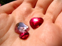 Day Sixteen (sᴏρніα) Tags: macro hand heart sparkle gem jewel iwillpossessyourheart