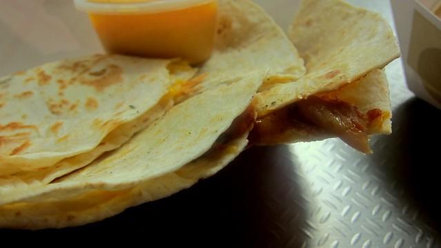 kimchi quesadilla at omg tacos