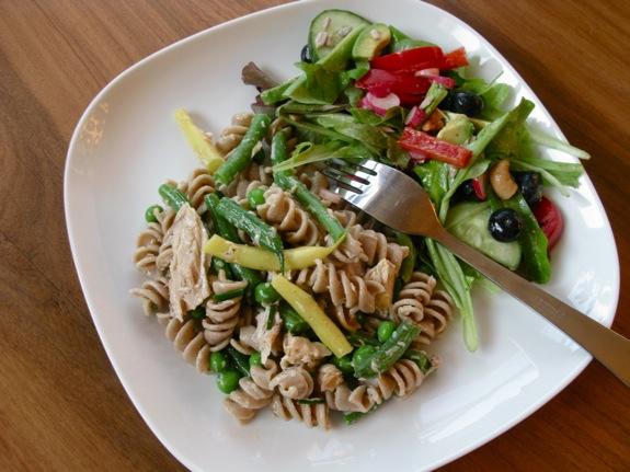green bean tuna pasta salad 002