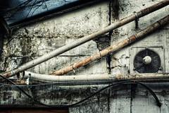 tubes (jonasginter) Tags: 50mm pentax wand details bahnhof diagonal architektur rost metall dach osnabrck gebude hdr schmutz urbex putz rohre k7 verfall kapel linien vergessen lfter lostplace