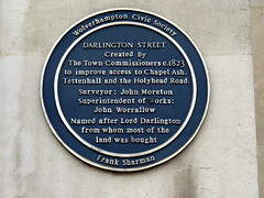 Photo of Darlington Street blue plaque