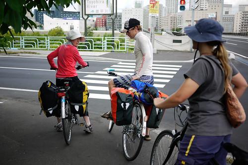 Cycling out of Sapporo, Hokkaido, Japan
