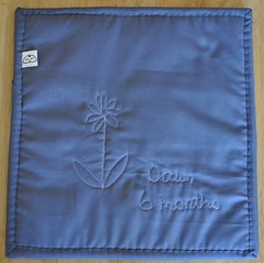 footprint potholder for Mom - the back