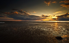 Solway Sunset (.Brian Kerr Photography.) Tags: sunset seascape beach clouds canon reflections landscape rocks shore cumbria solway dumfriesandgalloway allonby eos5dmkii