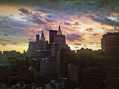 New York after Irene (maistora) Tags: city nyc pink blue light sunset shadow sky urban panorama orange usa ny newyork storm black color colour detail art window rain weather yellow mobile skyline architecture night clouds photoshop buildings camphone grey george aftermath cityscape phone blackberry view skyscrapers purple wind cloudy manhattan quality balcony hurricane perspective cellphone son smartphone filter elements getty irene process iq viewpoint effect postprocess climate forecast edit vantage topaz develop adjust infocus nothdr denoise maistora georgedimitroff yahoo:yourpictures=weather