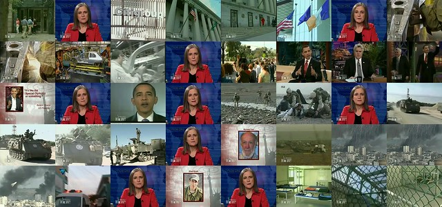 Obama in Democracy Now! broadcast (montage 8x5 cropped)