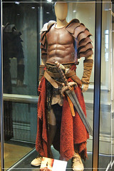 Conan The Barbarian Exhibition - London Film Museum : Jason Momoa's Conan The Barbarian Leather Battle Armour & his father's The Sword of Corin from Conan The Barbarian by Craig Grobler