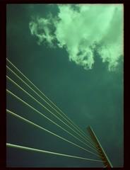 somewhere in france #20 viaduc de millau (douweplukkel) Tags: bridge france pen xpro olympus oldschool crossprocessing kit olympuspen rapid millau viaduc mimoa c41 viaducdemillau ee2 olympuspenee2 tetenal