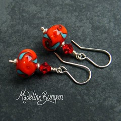 "Red, Orange and Turquoise Earrings • <a style=""font-size:0.8em;"" href=""https://www.flickr.com/photos/37516896@N05/6194939428/"" target=""_blank"">View on Flickr</a>"