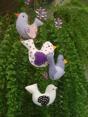 Mobile de passarinhos feito  8 mos (Efeltro Borboleta) Tags: mobile feltro passarinhos