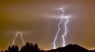 Multiple Lightning Strikes by P-Rock