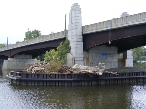 High water bridge debris