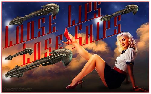 Loose Lips WW2 Style Wallpaper