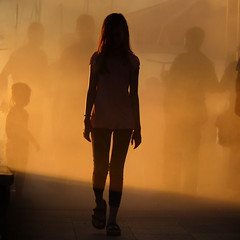 A young lady gallivant thru the medieval town Koper at dusk (Bn) Tags: city sunset sea summer sunlight mist holiday cold tower water girl silhouette st fog lady port geotagged harbor fan town ancient topf50 women cathedral roman dusk walk air young medieval spray topf300 slovenia coastal capodistria empire heat 1991 raid independence topf100 topf200 trieste adriatic istria rayoflight koper slovenian capris intoxication capre sloveni 100faves 50faves 200faves titov caprea gallivant 300faves befog befogged kopar nazarius gafers aegida venetianera bayofkoper airsprayed airstirring airthreatening caprista cevljarska geo:lon=13725529 geo:lat=45548472
