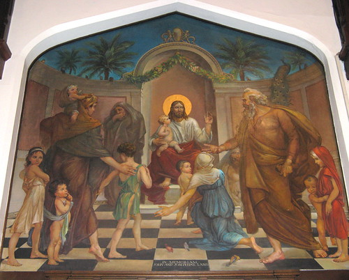 """Christ Blessing the Children,"" Mural - Redeemer Lutheran Church"